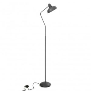 Lámpara de pie metal gris