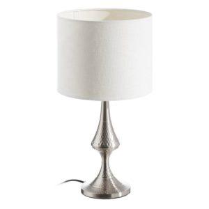 Lámpara de sobremesa Plata grabada