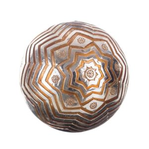 Bola decorativa resina estrella plata dorado
