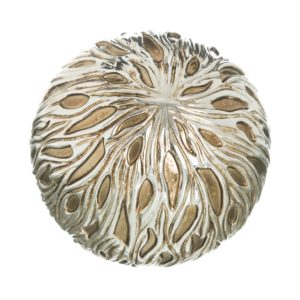 Bola decorativa resina fluida plata dorado