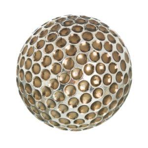 Bola decorativa resina círculos plata dorado