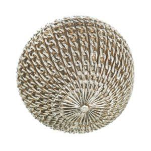 Bola decorativa resina eslabones plata dorado