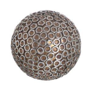 Bola decorativa resina geometrías plata