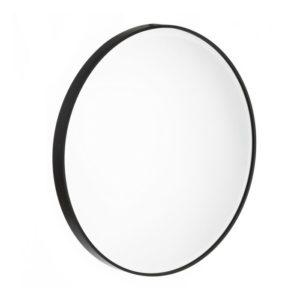 Espejo redondo metal negro
