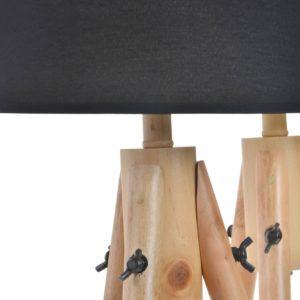 Lámpara de sobremesa Trípode madera