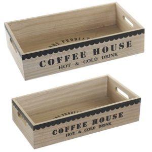 Bandeja madera Coffee 2 tamaños