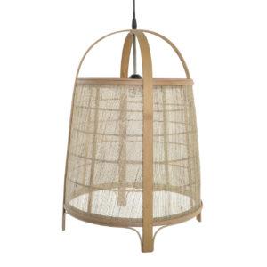 Lámpara de techo bambú lino
