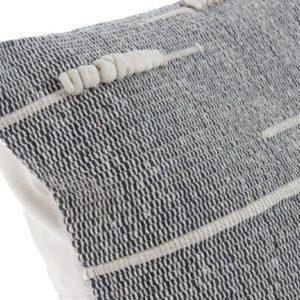 Cojín algodón gris