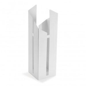Paragüero metal abstracto blanco