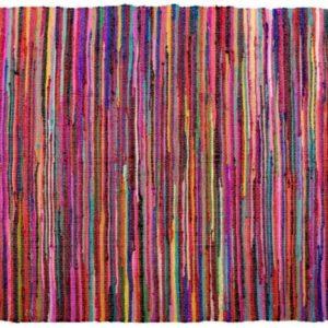 Alfombra algodón multicolor 2 tamaños