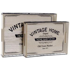 Bandeja madera Vintage Home 2 tamaños