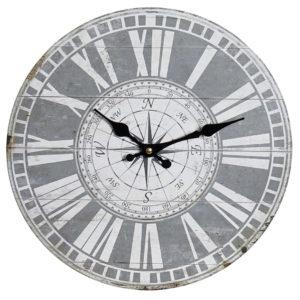 Reloj de pared fondo gris