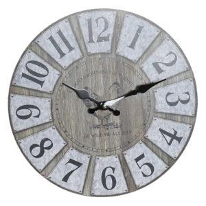 Reloj de pared fondo madera