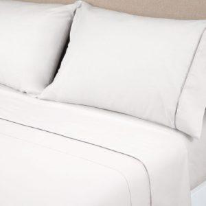 Juego de sábanas Blanco 100% Algodón Satén 400 Hilos