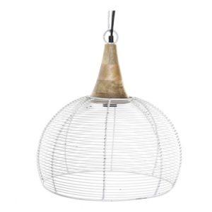 Lámpara de techo malla metal blanco