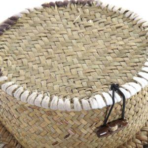 Cesta fibra redonda detalle cuerdas 3 tamaños