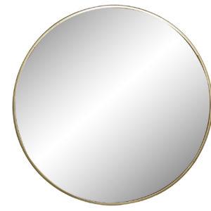 Espejo redondo metal dorado