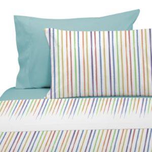 Juego de sábanas colors rayas