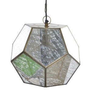 Lámpara de techo metal y cristal