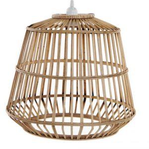 Lámpara de techo bambú ratán natural
