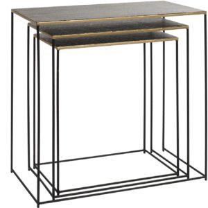 Mesa auxiliar metal envejecido 3 tamaños