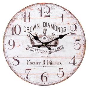 Reloj de pared madera envejecida