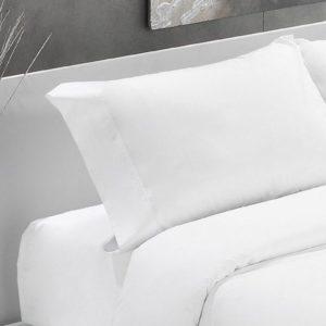 Blanco-Funda almohada algodón 200 hilos