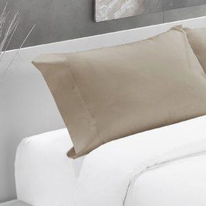 Camel-Funda almohada algodón 200 hilos