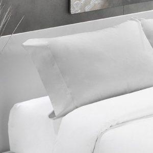 Gris perla-Funda almohada algodón 200 hilos
