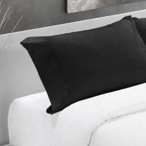 Negro-Funda almohada algodón 200 hilos