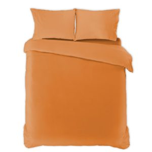 Funda nórdica algodón percal 200 hilos naranja