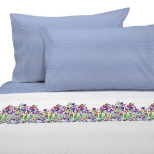 Juego de sábanas estampado geométrico y floral