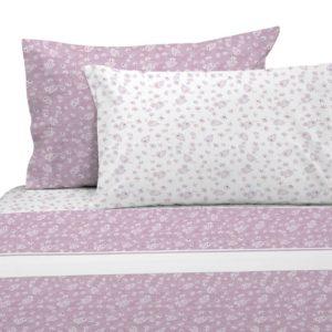 Juego de sábanas estampado indi rosa
