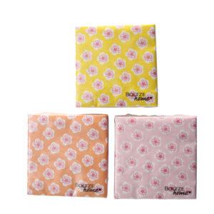 Servilletas de papel flores 3 colores