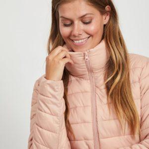 Chaqueta acolchada rosa
