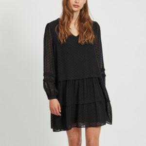 Vestido plumeti negro