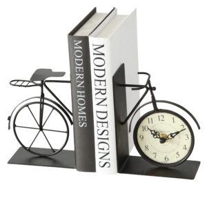 Sujetalibros reloj bicicleta