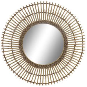 Espejo ratán bambú natural