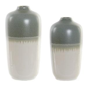 Jarrón cerámico bicolor 2 tamaños