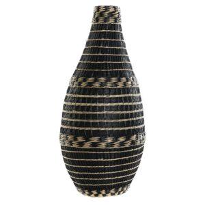 Jarrón bambú fibra negro natural