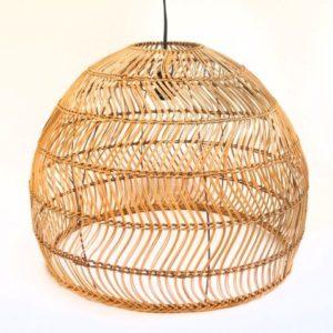 Lámpara de techo ratán natural