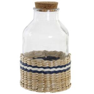 Botella cristal ratán