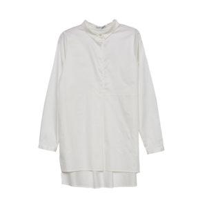 Camisa blanca pliegues