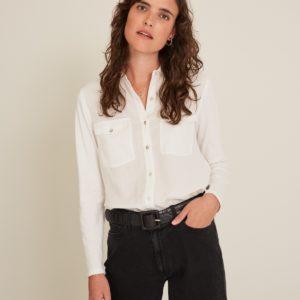Camisa con bolsillos 2 colores