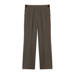 Pantalón largo gris de rayas