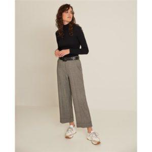 Pantalón largo ancho gris