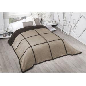 Edredón comforter cuadrato marrón