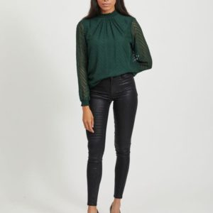 Jeans slim fit brillo