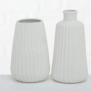Florero porcelana blanco 2 tamaños
