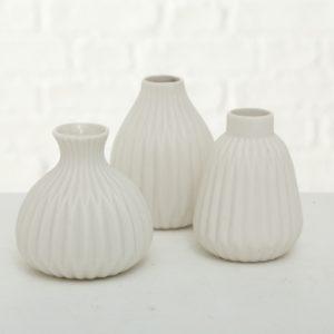 Floreros porcelana blanco 3 modelos